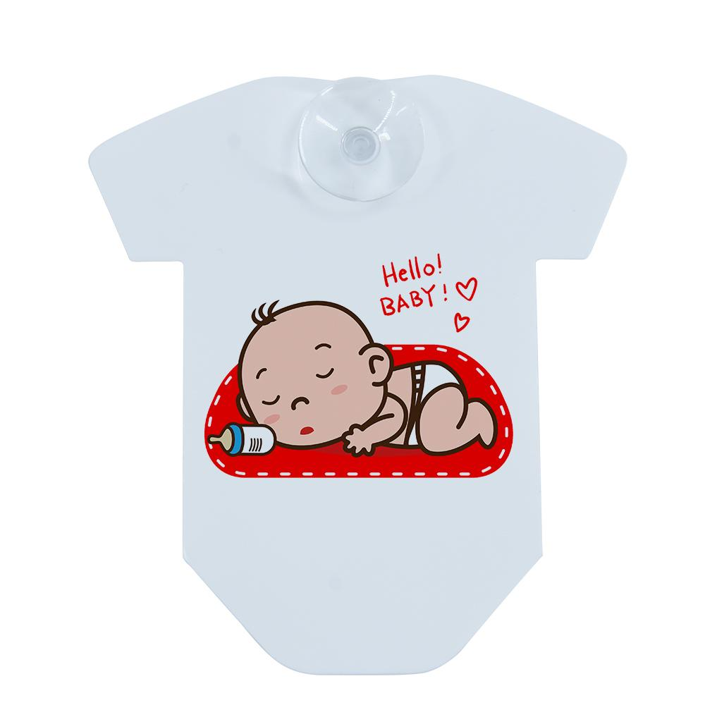 sublimation car t-shirt baby on board sign