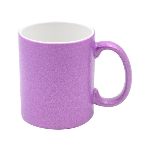 sublimation blank glitter purple mug