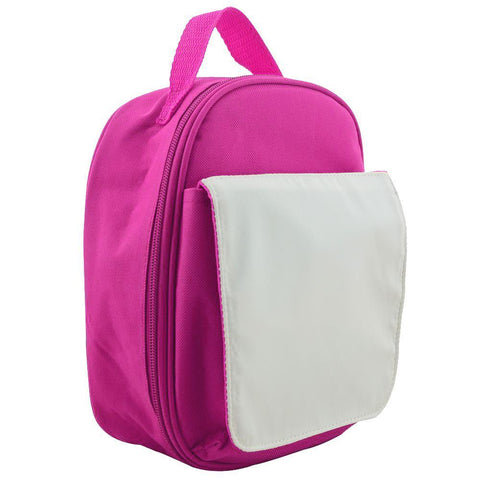 sublimation hot pink lunch bag
