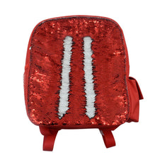 sublimation sequin backpack red