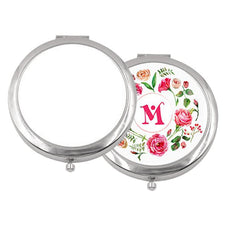 sublimation blank silver ladies pocket mirror