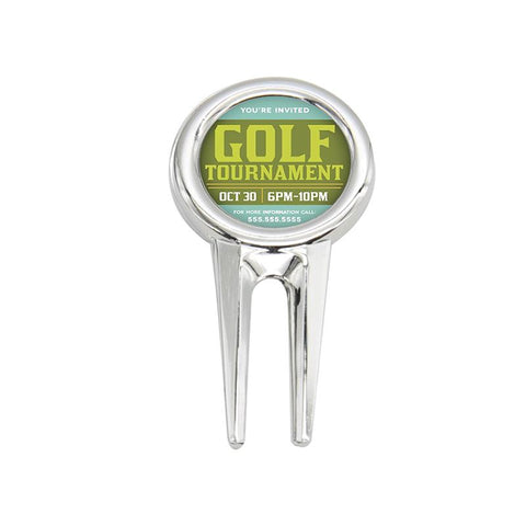 sublimation golf divot pitch repair tool
