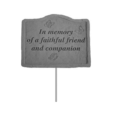 Garden Stake – In memory of a faithful friend Memorial Gift-Memorial Gift-Kay Berry-Afterlife Essentials