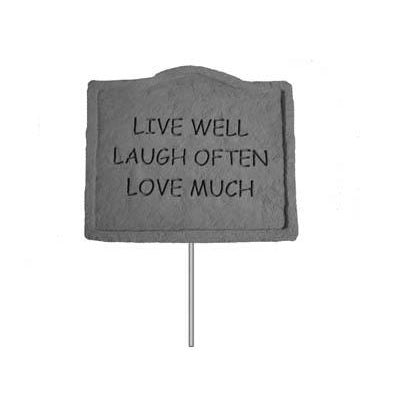 Garden Stake-Live well… Memorial Gift-Memorial Gift-Kay Berry-Afterlife Essentials
