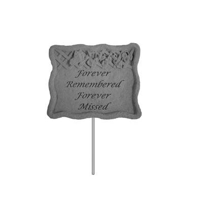 Garden Stake-Forever Remembered… Memorial Gift-Memorial Stone-Kay Berry-Afterlife Essentials