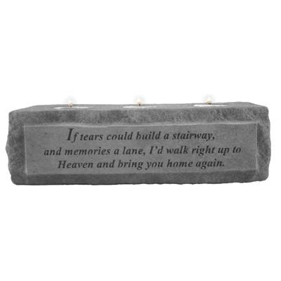 If tears could build a stairway… (3 light) Memorial Gift-Memorial Stone-Kay Berry-Afterlife Essentials