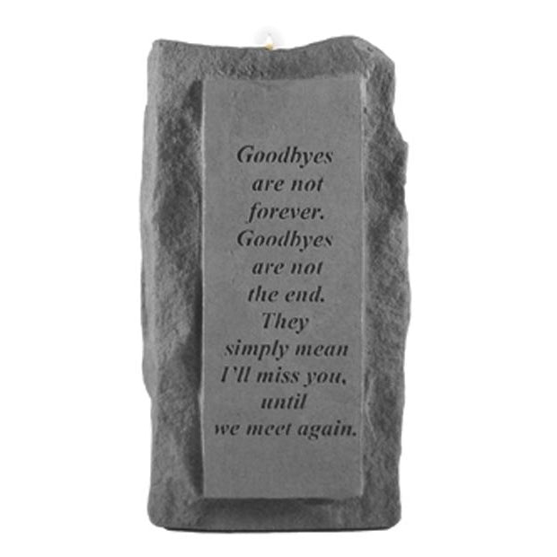 Goodbyes are not forever… (single tall) Memorial Gift-Memorial Stone-Kay Berry-Afterlife Essentials