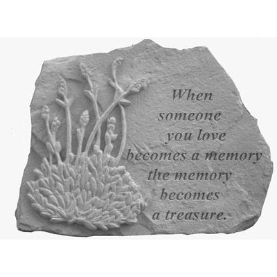 When someone you love… w/lavendar Memorial Gift-Memorial Stone-Kay Berry-Afterlife Essentials