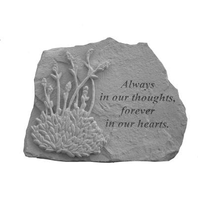 Always in our thoughts…w/lavendar Memorial Gift-Memorial Stone-Kay Berry-Afterlife Essentials