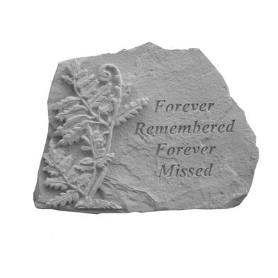 Forever Remembered… w/fern Memorial Gift-Memorial Stone-Kay Berry-Afterlife Essentials