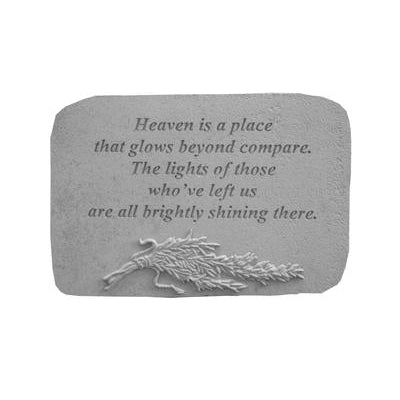 Heaven is a place… w/rosemary Memorial Gift-Memorial Stone-Kay Berry-Afterlife Essentials