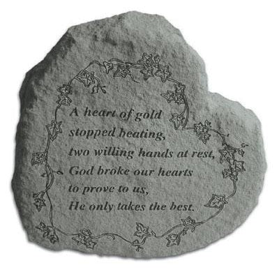 A heart of gold… Memorial Gift-Memorial Stone-Kay Berry-Afterlife Essentials