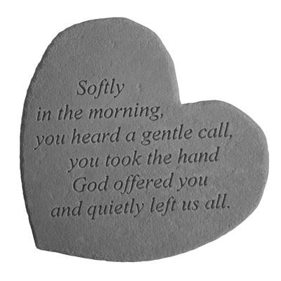 Softly in the… Memorial Gift-Memorial Stone-Kay Berry-Afterlife Essentials