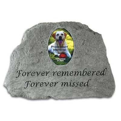 Forever remembered Forever Missed (w/ Photo Insert) Memorial Gift-Memorial Stone-Kay Berry-Afterlife Essentials