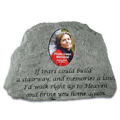 If tears could build…(w/ Photo Insert) Memorial Gift-Memorial Stone-Kay Berry-Afterlife Essentials