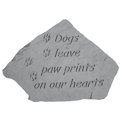Dogs leave paw prints… Memorial Gift-Memorial Stone-Kay Berry-Afterlife Essentials