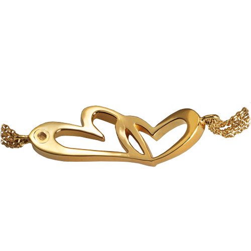 Linked In Love Bracelet Gold - Plated Cremation Jewelry-Jewelry-New Memorials-Afterlife Essentials