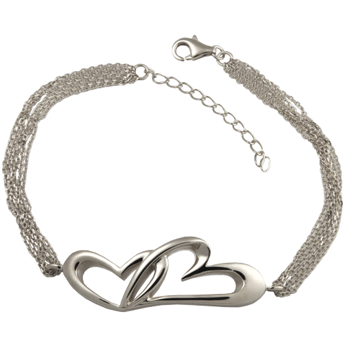 Linked In Love Bracelet Sterling Silver Cremation Jewelry-Jewelry-New Memorials-Afterlife Essentials