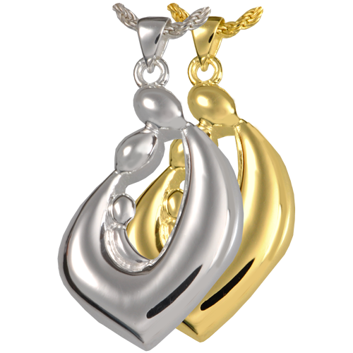 Family Embrace Teardrop Pendant Cremation Jewelry-Jewelry-New Memorials-Afterlife Essentials