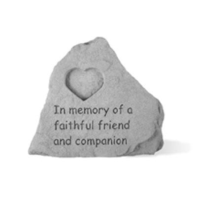 In memory (w/ heart) Memorial Gift-Memorial Stone-Kay Berry-Afterlife Essentials