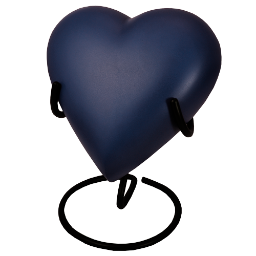 Brass Heart Blue Nightfall Cat Pet 53 cu in Cremation Urn-Cremation Urns-New Memorials-Yes Add Display Stand ($30)-Afterlife Essentials