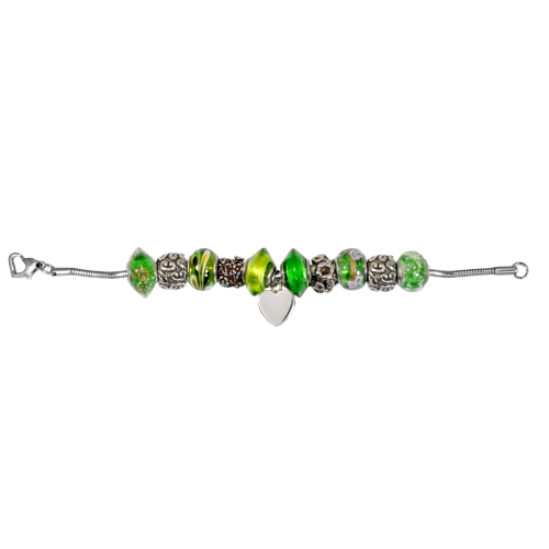 Remembrance Beads Urn Charm Bracelet - Emerald Green Cremation Jewelry - Afterlife Essentials