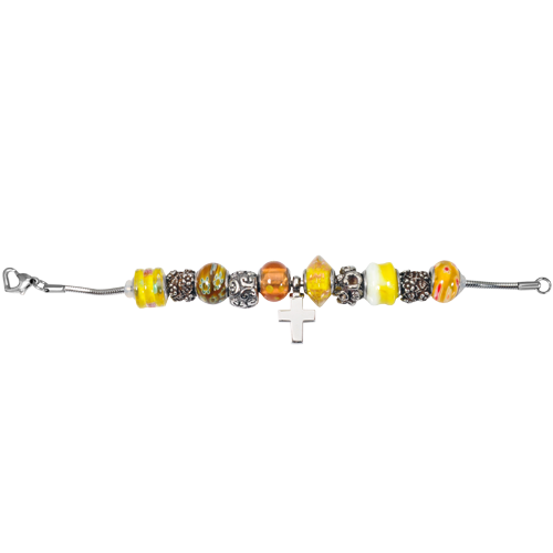 Remembrance Beads Sunshine Yellow Charm Bracelet Cremation Jewelry-Jewelry-New Memorials-Afterlife Essentials