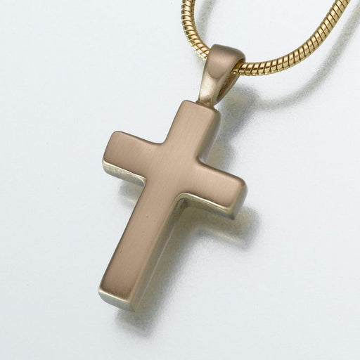 Brass Cross Pendant Cremation Jewelry-Jewelry-Madelyn Co-Brass-Afterlife Essentials