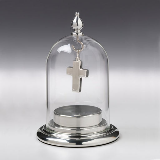 Fillable Base with Glass Dome Top Cremation Jewelry-Jewelry-Madelyn Co-Pewter-Afterlife Essentials