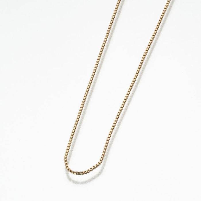 "24"" Box Chain-Jewelry-Madelyn Co-Gold Vermiel-Afterlife Essentials"