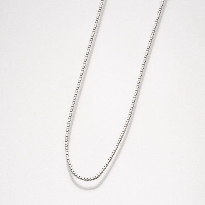 "24"" Box Chain-Jewelry-Madelyn Co-Sterling Silver-Afterlife Essentials"