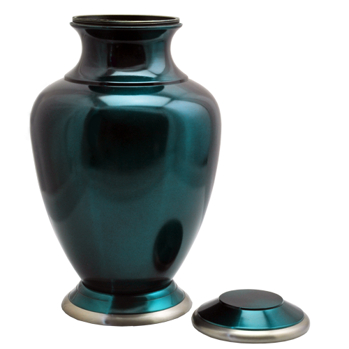 Turquoise Series Dark Green 200 cu in Cremation Urn-Cremation Urns-New Memorials-Afterlife Essentials