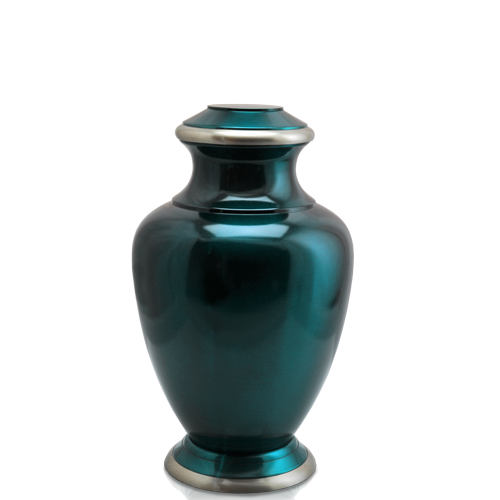 Turquoise Series Dark Green 60 cu in Cremation Urn-Cremation Urns-New Memorials-Afterlife Essentials