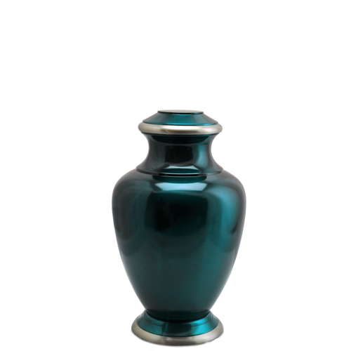 Turquoise Series Dark Green 4 cu in Cremation Urn-Cremation Urns-New Memorials-Afterlife Essentials