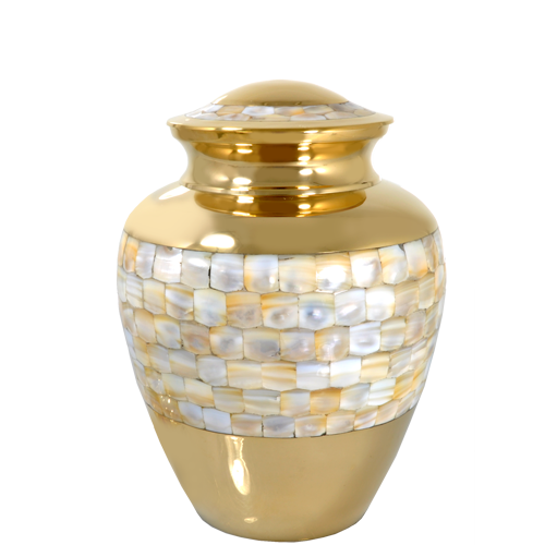 Mother Of Pearl Medium 60 cu in Cremation Urn-Cremation Urns-New Memorials-Afterlife Essentials