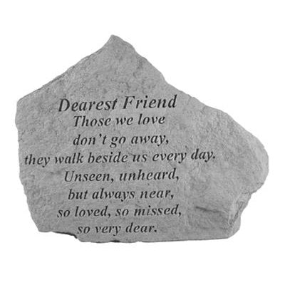 DEAREST FRIEND Those we love… Memorial Gift-Memorial Stone-Kay Berry-Afterlife Essentials