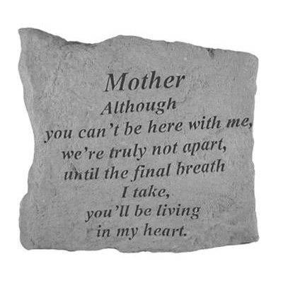 MOTHER Although you can't… Memorial Gift-Memorial Stone-Kay Berry-Afterlife Essentials