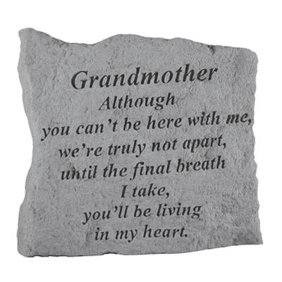GRANDMOTHER Although you can't… Memorial Gift-Memorial Stone-Kay Berry-Afterlife Essentials