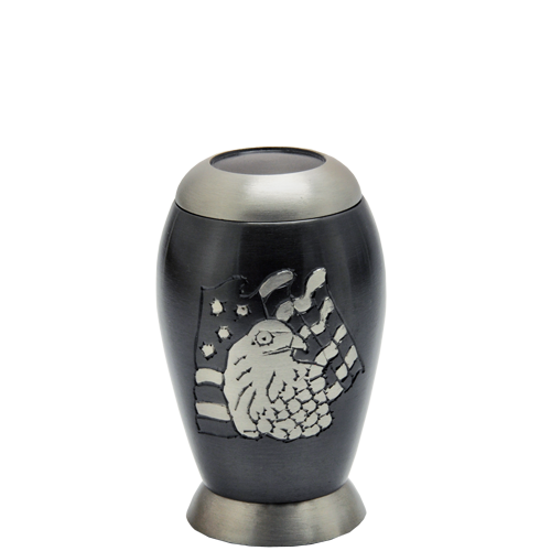 Flag and Eagle Mini 4 cu in Cremation Urn Keepsake-Cremation Urns-New Memorials-Afterlife Essentials