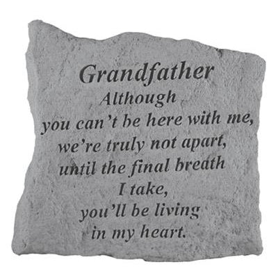 GRANDFATHER Although you can't… Memorial Gift-Memorial Stone-Kay Berry-Afterlife Essentials