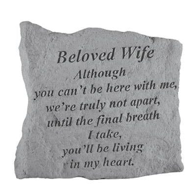 BELOVED WIFE Although you can't… Memorial Gift-Memorial Stone-Kay Berry-Afterlife Essentials