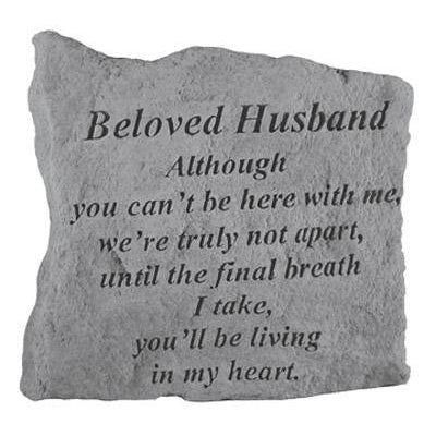 BELOVED HUSBAND Although you can't… Memorial Gift-Memorial Stone-Kay Berry-Afterlife Essentials
