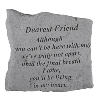 DEAREST FRIEND Although you can't… Memorial Gift-Memorial Stone-Kay Berry-Afterlife Essentials