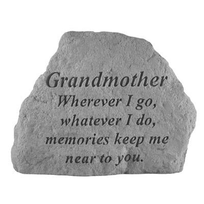 GRANDMOTHER Wherever I go… Memorial Gift-Memorial Stone-Kay Berry-Afterlife Essentials