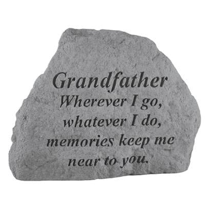 GRANDFATHER Wherever I go… Memorial Gift-Memorial Stone-Kay Berry-Afterlife Essentials