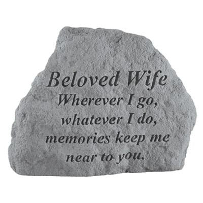 BELOVED WIFE Wherever I go… Memorial Gift-Memorial Stone-Kay Berry-Afterlife Essentials