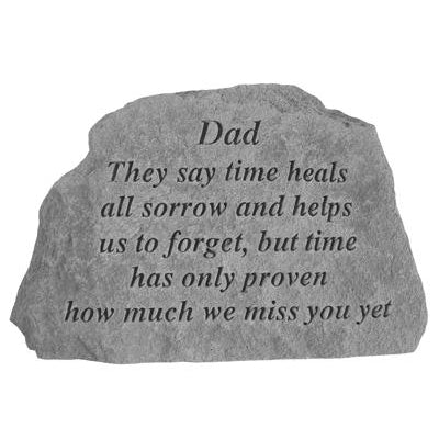 Dad They say time heals… Memorial Gift-Memorial Stone-Kay Berry-Afterlife Essentials