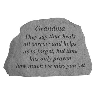 Grandma They say time heals… Memorial Gift-Memorial Stone-Kay Berry-Afterlife Essentials