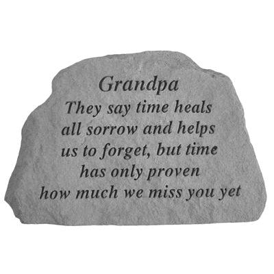 Grandpa They say time heals… Memorial Gift-Memorial Stone-Kay Berry-Afterlife Essentials
