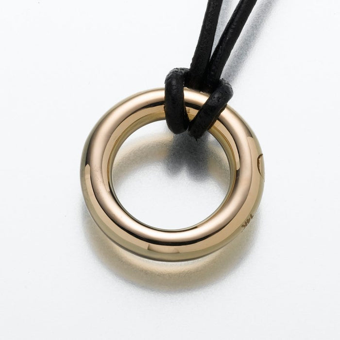 "Eternity Pendant Cremation Jewelry-Jewelry-Madelyn Co-Gold Vermiel-Free 24"" Black Satin Cord-Afterlife Essentials"